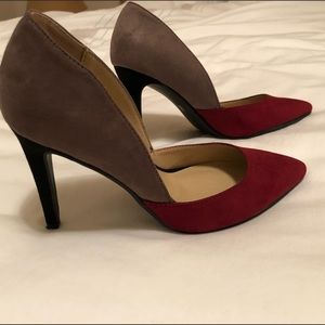 Chinese Laundry Color-block Beige Maroon Shoes 6.5